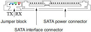 Seagate Maxtor HDD подключение терминала RX TX